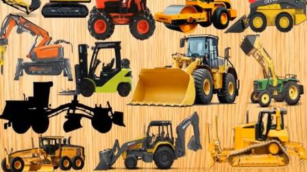 婴幼儿益智玩具 拼图各种汽车工程车图案 汽车动画
