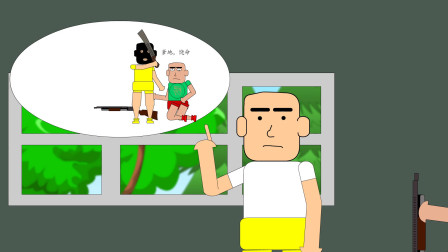 吃鸡搞笑动画:楞子挑战用喷子吃鸡,落地三杀帅气到爆