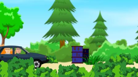 吃鸡搞笑动画:徒手变出两颗雷,草地上演飙车大战