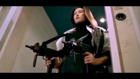 九十年代的港产枪战片,一群老大在开会,越南女杀手双枪直接团灭