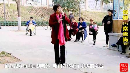 河南女戏迷清唱豫剧《秦雪梅》经典唱段:老爹爹莫动怒你暂且息愤