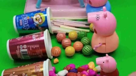 给小猪佩奇一家分糖果啦,乔治的糖果不见了,被谁给偷吃了?