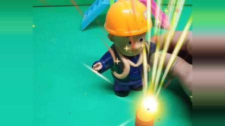 光头强的新玩具,一只可爱的大鞭炮