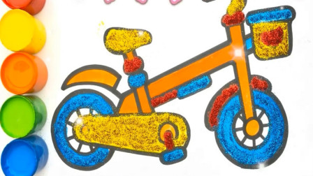 亲子益智绘画涂鸦自行车 学习认知色彩