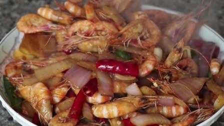 大厨教你海鲜的做法,比白灼虾鲜,带壳吃,一口一个过瘾