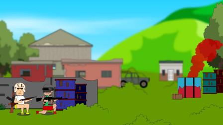 吃鸡搞笑动画:空投就在眼前怎能不舔,楞子攻房有一套