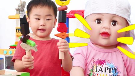 枫枫的厨房玩具,请宝宝吃烧烤