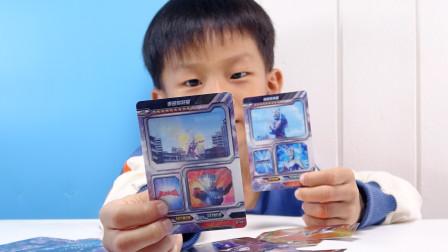 开第五弹奥特曼荣耀卡,中了一张泰迦的电视卡