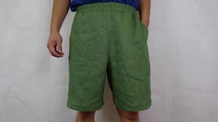 男士沙滩裤的缝纫方法