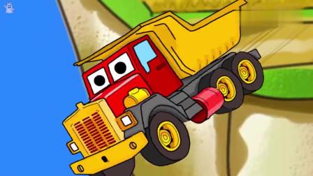 火车和拖拉机比赛看谁跑的更快儿童动画片