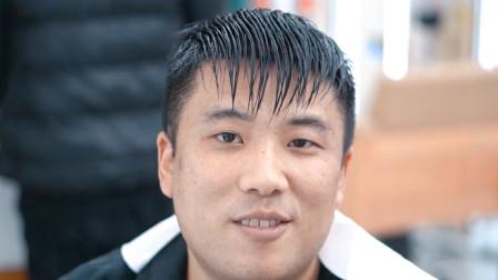 小伙跨越一千多公里,只为找枫哥设计一款短发,微胖男生剪烫发型