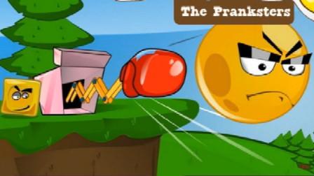 红球闯关:疯狂的小红球被方块头袭击了?!爆笑阿布解说