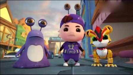 猪猪侠:画风突变,小猫咪竟带上人人都爱我系统,被狂追