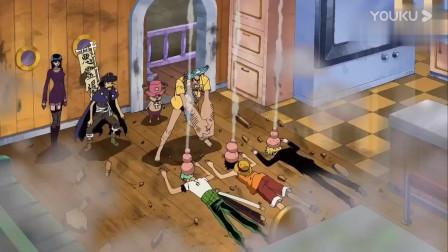 海贼王:路飞、索隆和山治进入睡眠状态,费兰奇怎么揍都揍不醒,简直太逗了!