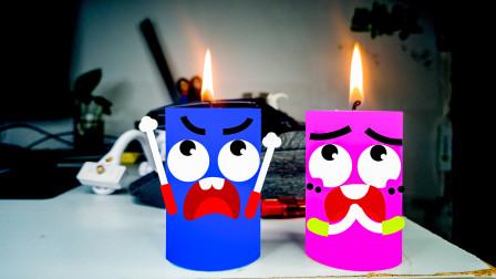 蜡烛和便签都会说话了,奇趣爆笑解压动画