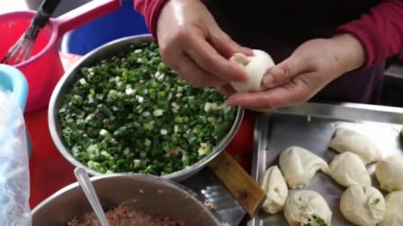 台湾小吃街的水煎包,老广人百吃不厌!
