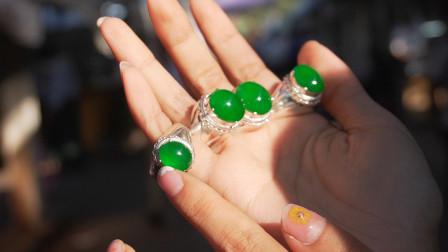 姑娘9000万缅币封包罕见阳绿翡翠戒指,货主叫嚣还给他
