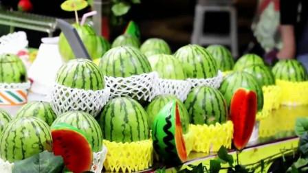 韩国下午饮品西瓜汁,卖相太诱人了!