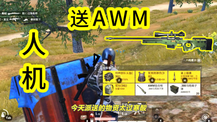 人机9527:人机捡空投,给玩家送AWM,被玩家淘汰是最大的光荣