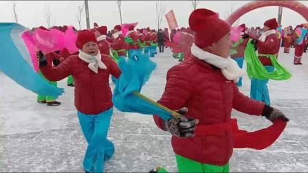 呼兰盛福秧歌队参加哈冰雪大世界起动大会展演