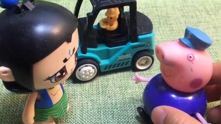 猪爷爷要去修路,葫芦娃知道后要帮助猪爷爷,葫芦娃真有爱心!