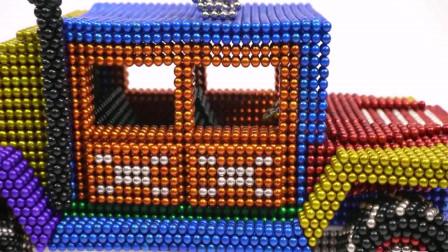 磁性珠拼装作战卡车