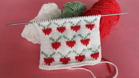 可爱的小萝卜棒针花样,用来给小宝贝织衣服,宝贝一定很喜欢