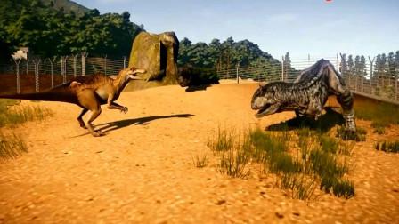侏罗纪世界 双脊龙激战霸王龙动画游戏 恐龙动漫