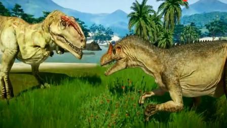 侏罗纪世界 霸王龙刺背龙角龙巨兽龙 恐龙动漫
