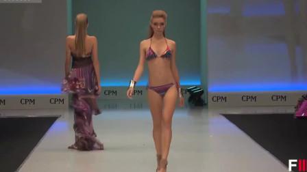 巴黎时装周个性泳装秀,充满魅力的模特,一举一动都那么美