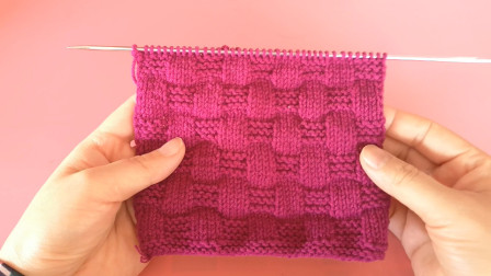 蓝编纹花纹棒针编织教程,简单容易,织围巾和毛衣想必一定很好看