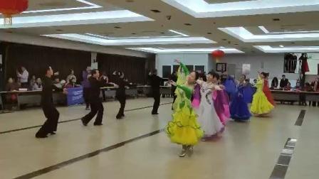 北京万达新梅交谊舞队展演华尔兹基本功舞步