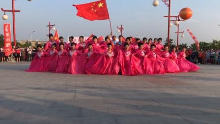 广场舞大赛商业城舞蹈队《五星红旗》