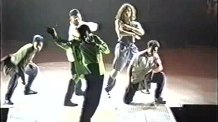 迈克尔杰克逊:难得一见的危险巡演彩排视频!认真的迈克真帅