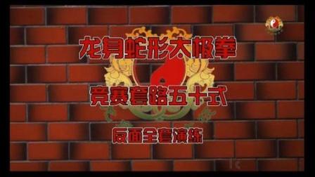 (背面)龙身蛇形太极拳竞赛套路五十式