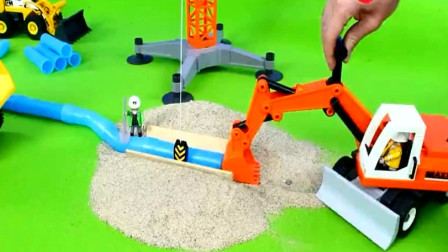 汽车玩具集合 挖掘机装载机修路 创意玩具