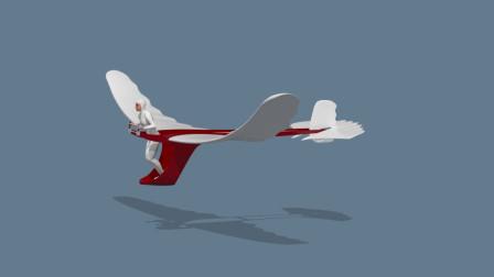 一款神奇的飞行器,融入鸟儿的飞行特点,只要轻轻一跳便能起飞