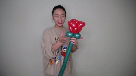 花朵长条魔术街卖创意小造型气球玫瑰花编织入门基础简单教程教学