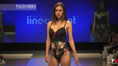 美女模特泳装走秀,身材很棒,完美展现出来