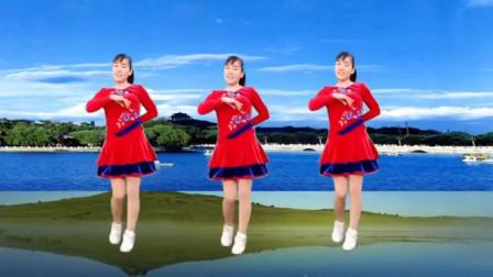 广场舞《山河美》经典大气 动感流行 节奏欢快 正背面附教学