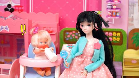 叶罗丽玩具故事:放寒假了,宝宝起床后,感觉好极了