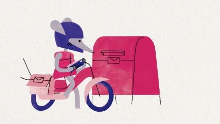 范妮变身邮递员,为好朋友们传递信件
