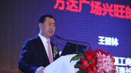 王健林在台上演讲,王思聪打来电话,忘关麦太尴尬暴露两人谈话!