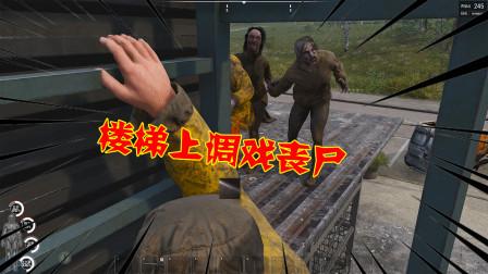 饺子:嫂子被丧尸包围 我在楼梯处调戏丧尸 丧尸却拿我毫无办法