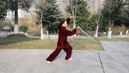 32式杨氏太极剑,2020年1月14日于芜湖西洋湖,鲍俊练习。