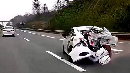 行车记录仪实拍:大马路上斗气飙车,结局却尴尬了