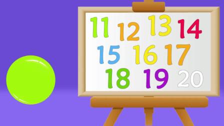认识10个常见的两位数,早教认识数字