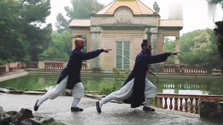 两位道长的剑法行云流水,看来是真得了武当派真传!
