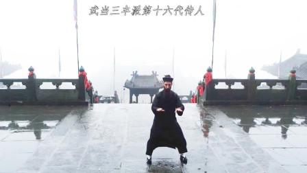 外国道长雨中习练太极十三势,相传张三丰所创,如今已名扬四海