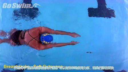 精彩的蛙泳教学,轻柔的划水,确保把力量放在你蛙泳最棒的地方!